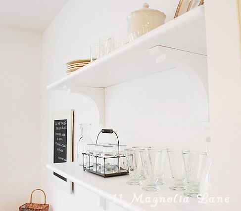 See how easy it is to DIY Open Shelving for the kitchen.
