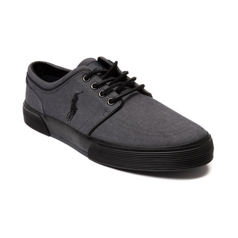 Shop for Mens Faxon Casual Shoe by Polo Ralph Lauren  in Gray Monochrome at Journeys Shoes. Shop today for the hottest brands in mens shoes and womens shoes at Journeys.com.Sporty causal sneaker from Polo featuring a cotton canvas upper, sharp-look side stitched Polo logo, and refined leather lace-up. Also features a padded shock absorbing insole and treaded rubber outsole for durable, everyday comfort.