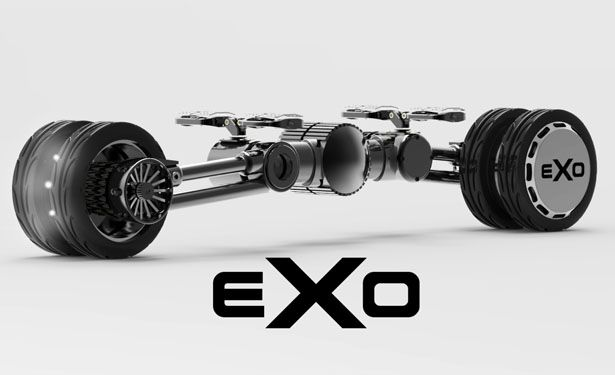 "EXO is concept foldable e-skateboard. The name itself is a shortened form of ""Exoskeleton"", describing the aesthetic behind the E-boards construction."
