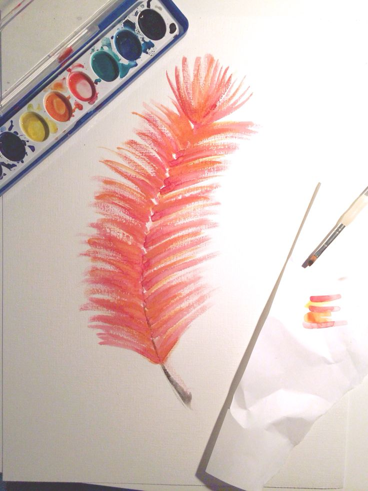 This little watercolor project just went live! Paint your own feather wall art.