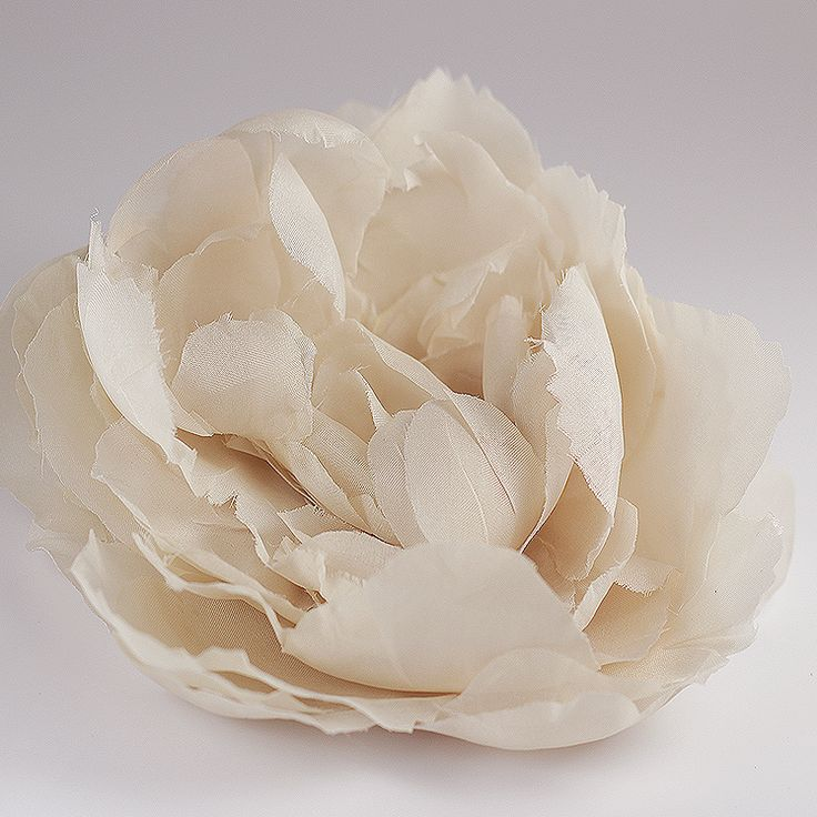 jedwabna róża ecru