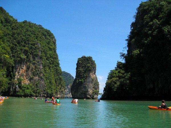Ko Tapu Island is a part of the Ao Phang Nga National Park.