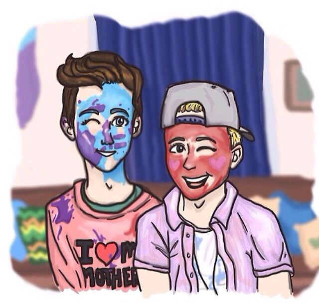 This is so cute! Tyler Oakley and Troye Sivan drawing
