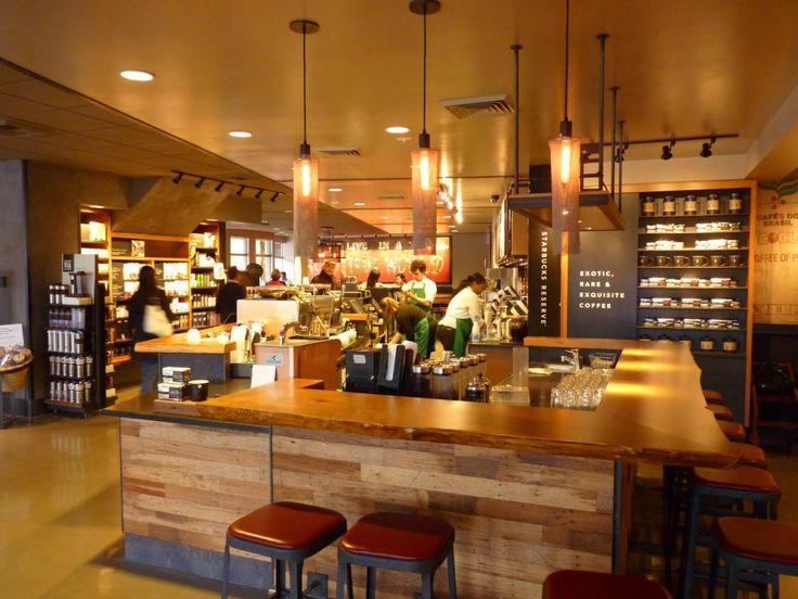 best socially designed coffee shops in seattle with wood