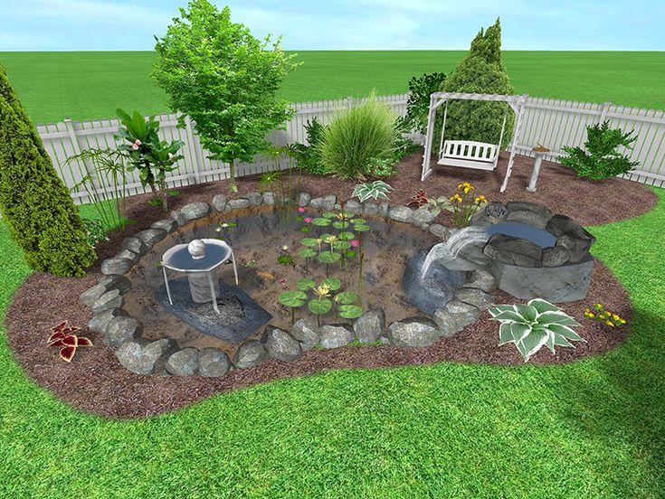 Best Backyard Design Ideas Plans 165 best water gardening images on pinterest | backyard, concrete