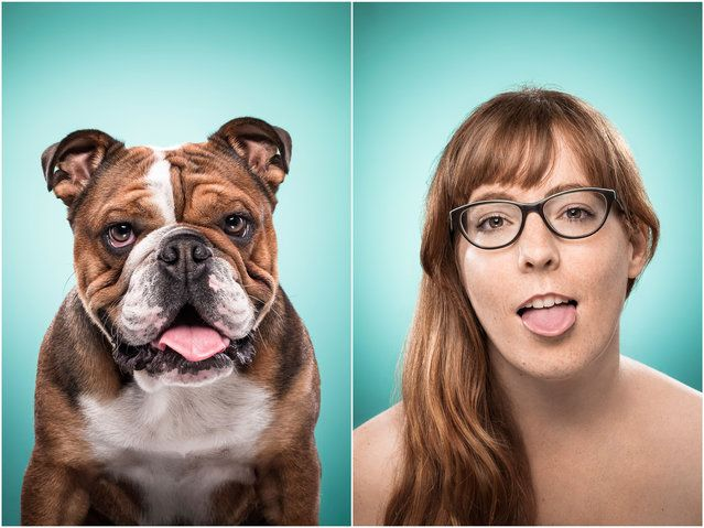 Sabrina and Hitchcock the dog. (Photo by Ines Opifanti/Caters News)| Petnook.com #Petnook