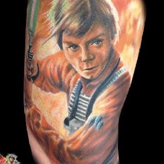 Luke skywalker tattoo starwars star wars tats for Luke skywalker tattoo