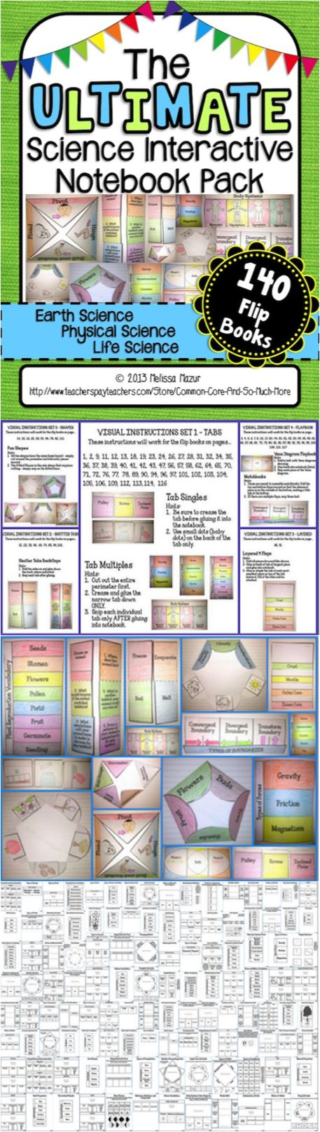 This HUGE set can be used in many ways in your classroom. The foldable flip books can be used in a file folder to create lapbooks, or glue them into your science interactive notebooks!   Included in this product is an easy to use Table of Contents, picture tutorials, and the following 140 flip books.  $