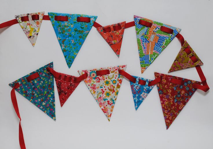 Lovely colourful bunting comes in a kit with everything you need.