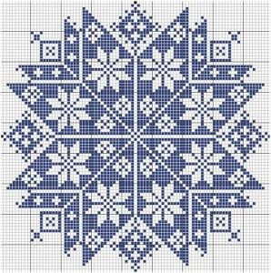 Etoile monochrome (Monochrome Star), designed by Le point de croix martine (Martine Cross Stitch).