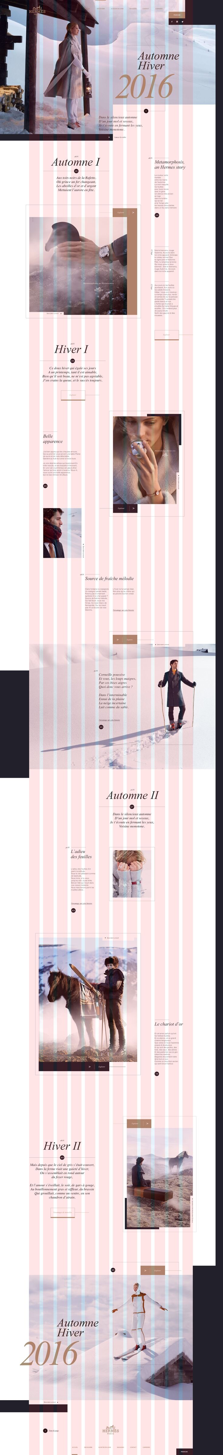 Hermes online redesign concept by Thomas Le Corre #design #grid