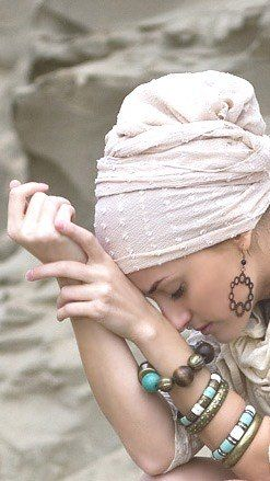 Beautiful head covering without the jewelry though.