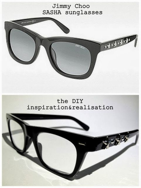a969d32b4d inspiration and realisation  DIY fashion blog  DIY Jimmy Choo star glasses