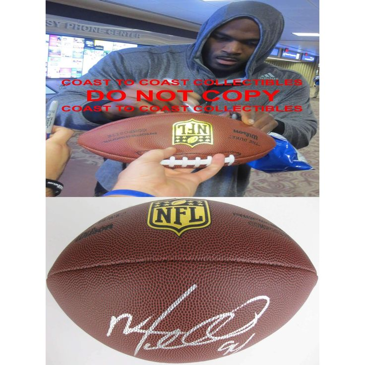 Mario Williams Miami Dolphins, Buffalo Bills, Houston Texans, Signed, Autographed, NFL Duke Football, a Coa with the Proof Photo of Mario Signing Will Be Included with the Football