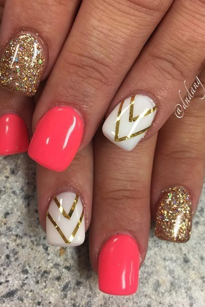 Gel Nail Design Ideas glitter gel nail designs two tone gel nail design ideas Best 20 Summer Gel Nails Ideas On Pinterest Corral Nails Coral Nails And Gel Nail Color Ideas