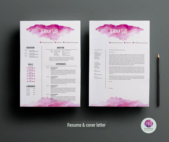 Modèle de CV lettre d'accompagnement modèle et par ChicTemplates