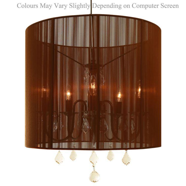 Chandelier Lampshade: Sophisticated ceiling lamp, exotic brown pendant light, lampshade chandelier,Lighting