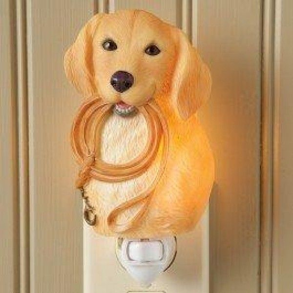 Yellow Lab Night Light - Ibis & Orchid Design Collection  Our #Yellow #Lab #Night #Light is here to greet you home after a long day, with a smiling face. Perfect to place in any room, but will look particularly nice near in your entryway. Crafted of bonded marble; which is a type of porcelain.