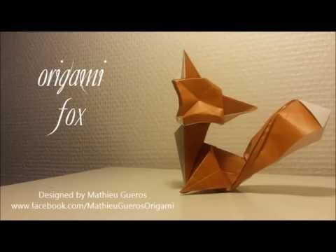 Origami Fox Tutorial (designed by Mathieu Gueros) - YouTube