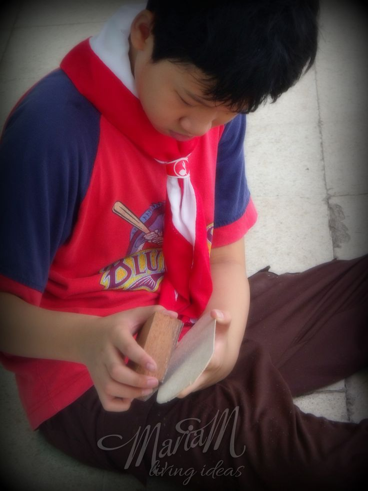 My son in his scouting activity