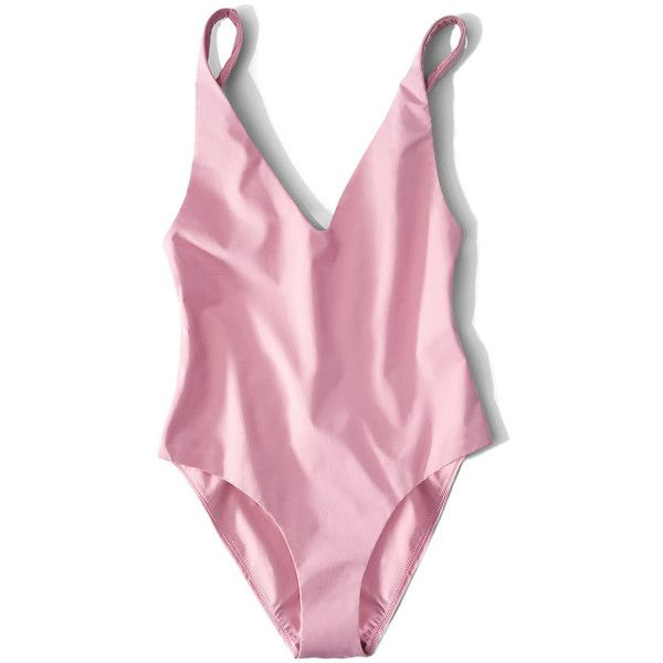 Her. Pink Ester One Piece (3.085 ARS) ❤ liked on Polyvore featuring swimwear, one-piece swimsuits, pink, 1 piece swimwear, one piece swim wear, 1 piece bathing suits, 1 piece swimsuit and one piece bathing suits