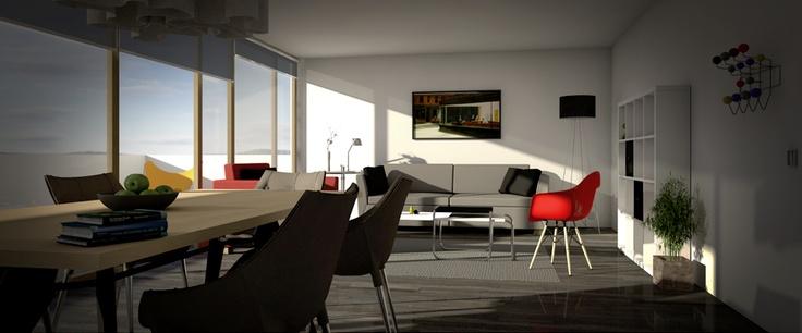edificio Chile España render: cinemarquitectura