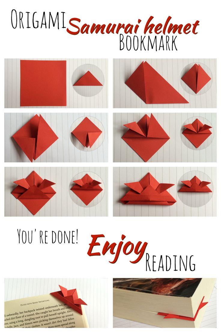Origami samurai helmet bookmark tutorial!