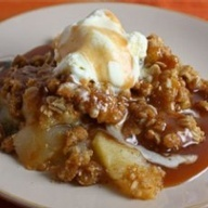 Crock Pot Apple Crisp - slice 8 apples and layer in crock. sprinkle with 1/4 c sugar 1 tsp cinnamon. Mix separately and then pat on top: 3/4 c flour, 3/4 c oatmeal, 3/4 c brown sugar, 1/2 c softened butter. Cook on high for 3 hours.