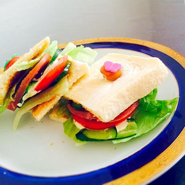 食べやすいようにピンでまとめてみました(・ω・) - 11件のもぐもぐ - スパムサンドイッチ by りなーん