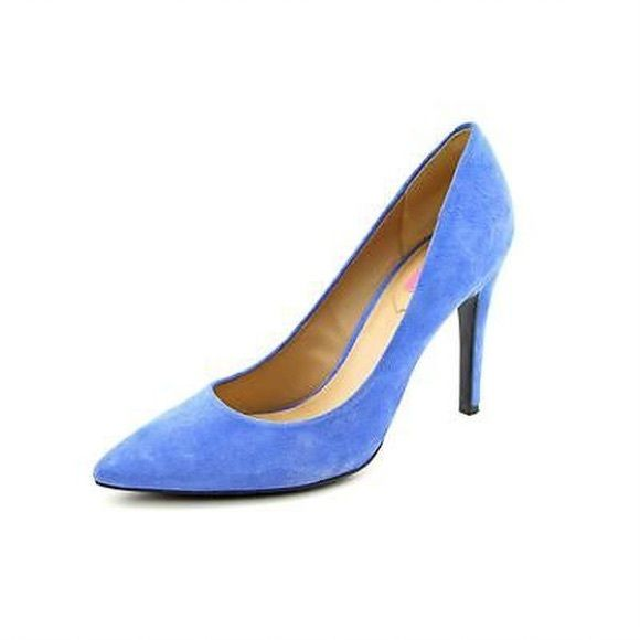 Issac Mizrahi Leeza Blue Suede Pumps Worn once- in great condition and very comfortable Shoes Heels