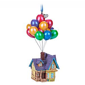 Give your holiday home décor an Up - lift with this finely detailed Sketchbook Ornament of Carl Fredricksen's house as it floats beneath a canopy of colorful balloons.