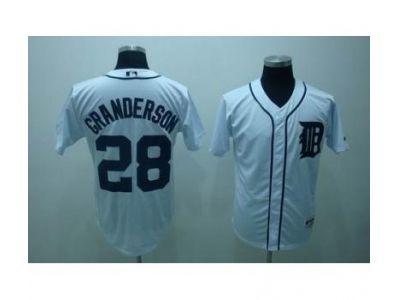 mlb detroit tigers #28 granderson white
