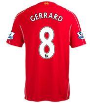 14-15 Cheap Liverpool Football Shirt GERRARD #8 Home Replica Jersey [14081202]