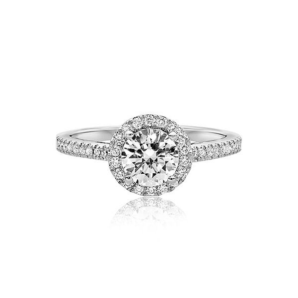 Scott Kay Radiance Round Diamond Pave Platinum Semi: Scott Kay Luminaire Diamond Halo & Platinum Engagement