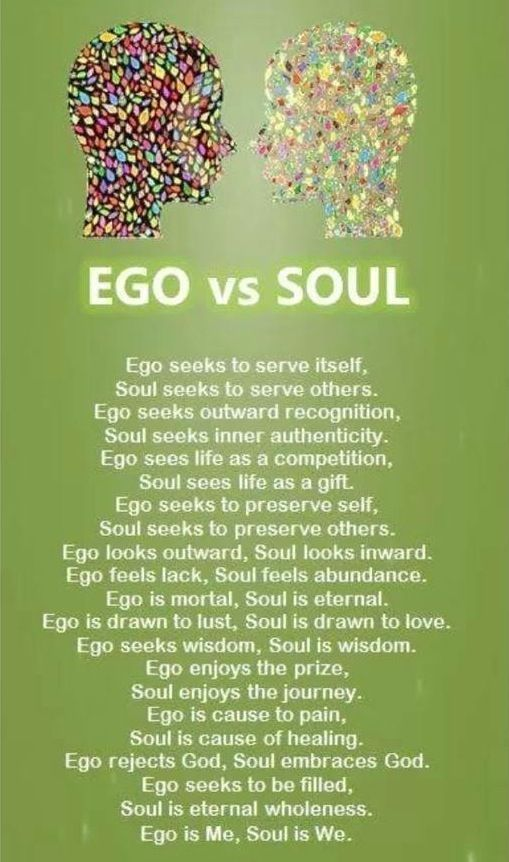 Authenticity is living from the heart or soul, not from unhealthy coping skills or ego.
