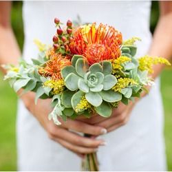 Nice African style bridal bouquet