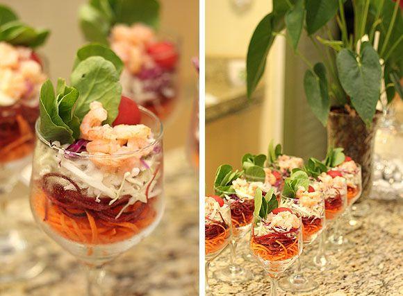 Ano Novo Decoração Criativa Verrine de Salada Verde Tropical