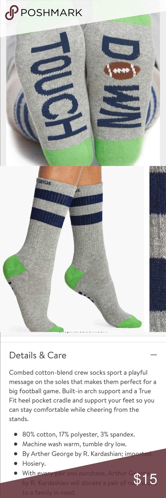 Arthur George Touchdown socks Arthur George Touchdown socks  NWT stock photo for image only please see color of actual socks Arthur George Accessories Hosiery & Socks
