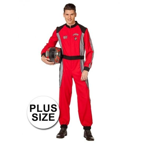 Plus size Race coureur kostuum voor heren  Grote maat Formule 1 coureur kostuum voor heren. Dit rode formule 1 coureur kostuum bestaat uit de overall inclusief petje. Materiaal: 100% polyester.  EUR 64.95  Meer informatie