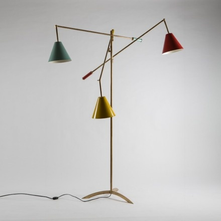 1950s Italian Multicoloured Floor Lamp. From Vintage Seekers. Great colours.