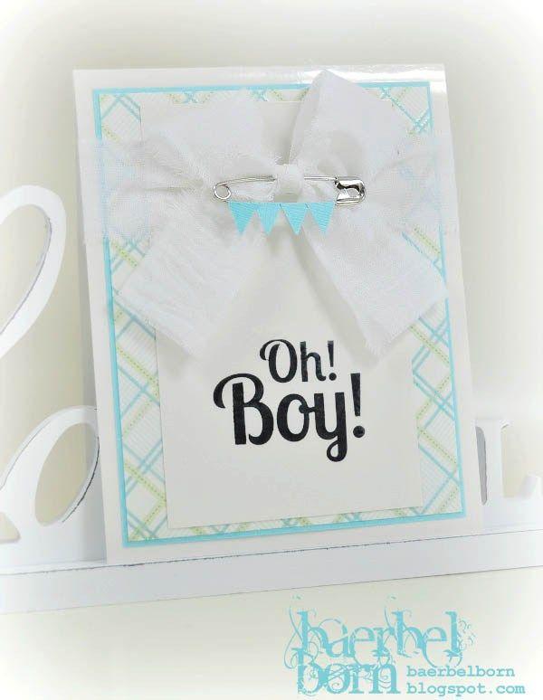 boy greeting card with bunting  Grußkarte zur Geburt mit kleiner Wimpelkette