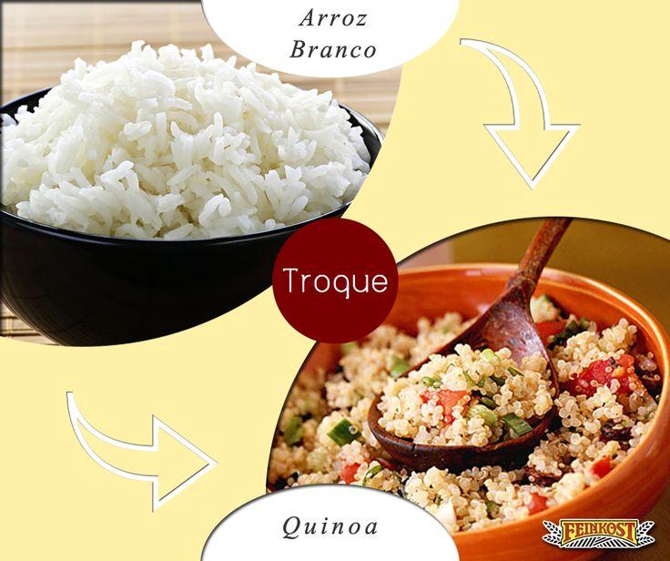"""A quinoa é rica em vitaminas e nutrientes importantes para o funcionamento do corpo. Considerada um """"supercereal"""", ela apresenta antioxidantes que previnem o envelhecimento precoce e doenças degenerativas; além de garantir a saúde óssea e imunológica graças a seus muitos minerais. O produto ainda é um alimento livre de glúten e é um carboidrato de digestão lenta, que aumenta a sensação de saciedade. Trocar o arroz por quinoa é, portanto, uma opção válida e saudável. #Feinkost…"""