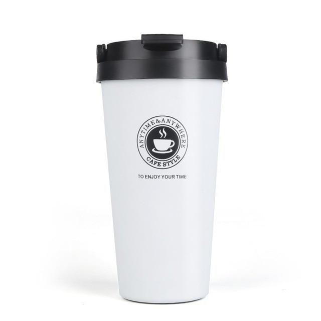 Double Wall Stainless Steel Vacuum Flasks 350ml 500ml Car Thermo Cup In 2020 Stainless Steel Coffee Mugs Stainless Steel Coffee Mugs