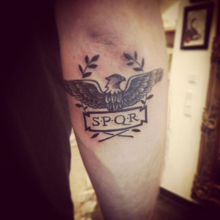 Tattoo SPQR Roma Legionaris