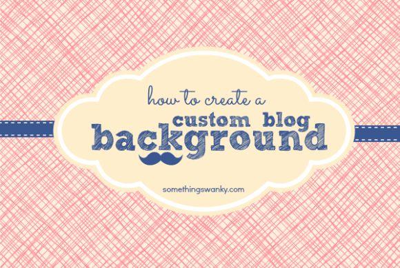 How to Create a Custom Blog Background using picmonkey