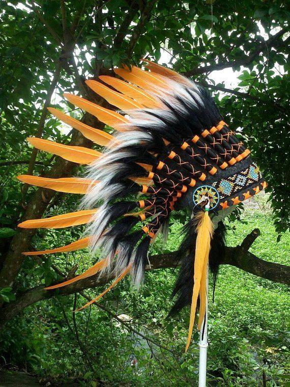 Indian Warbonnet Native American Headdress by TheLandOfCockaigne
