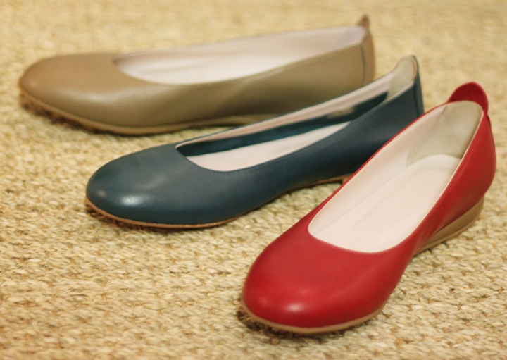 Ballerine MADE IN ROMANS // Ballerine cuir rouge bleu beige