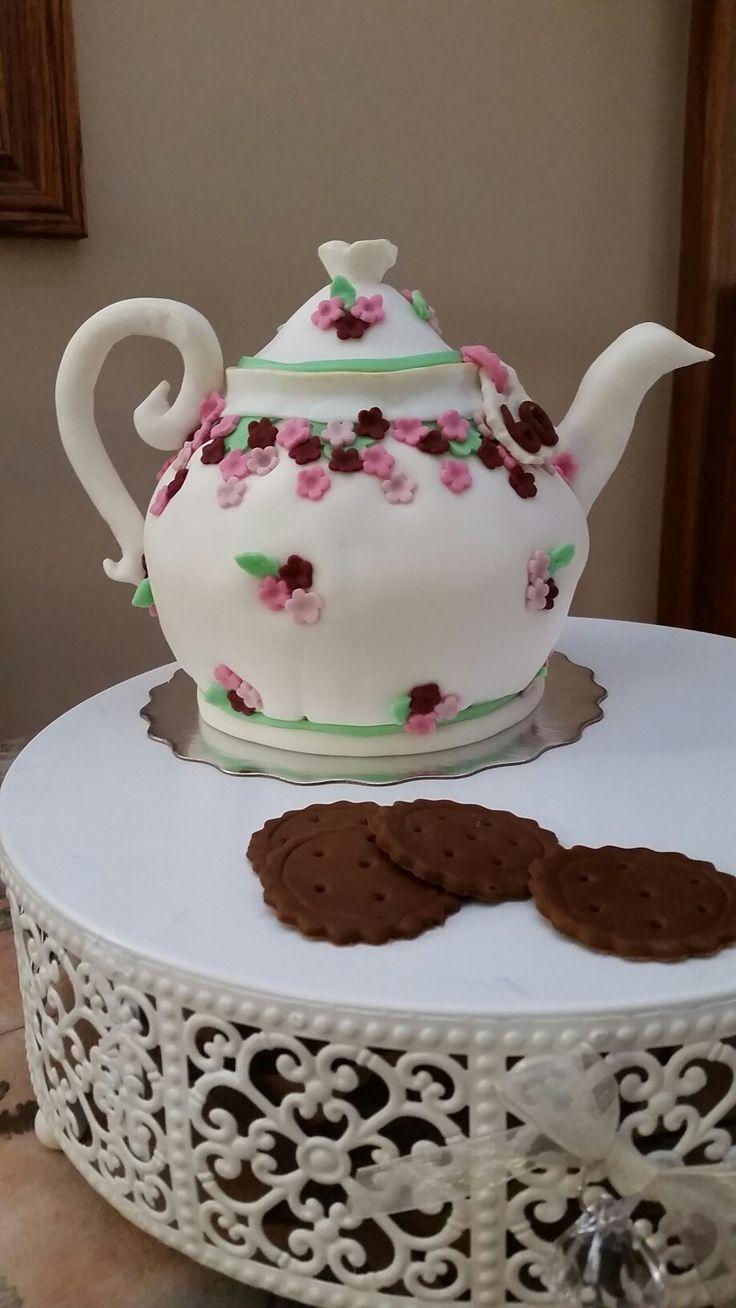 60th Teapot Birthday Cake