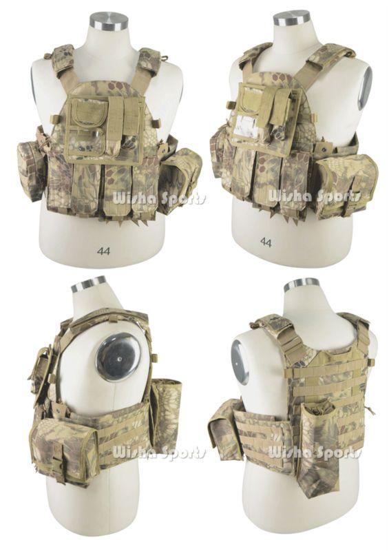 Tactical Vest Newest Kryptek Camo Color Molle Combat Strike Plate ...
