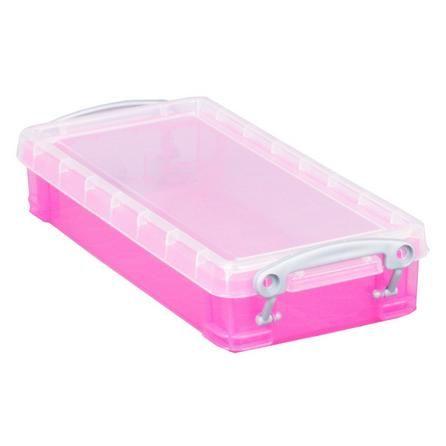Dunelm Really Useful Extra Small Pink Storage Box